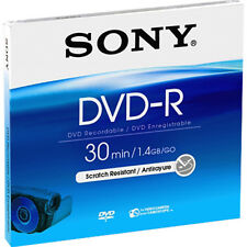 10 x Sony DVD-R mini 8cm 30Min 1,4GB Jewelcase Camcoder