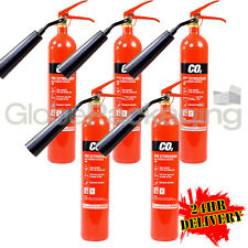 5 x 2KG CO2 CARBON DIOXIDE FIRE EXTINGUISHERS WAREHOUSE OFFICE HOME NEW *24HRS*