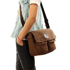 Vintage Men's Canvas Shoulder Messenger Flap Bag Crossbody Bags School Satchel