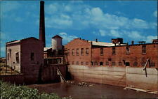 Amana Iowa USA vintage postcard ~1950/60 Look at the Mill Stream unused