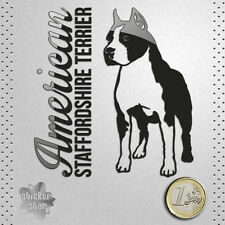 STICKER AMERICAN STAFFORDSHIRE TERRIER DOG PEGATINA DECAL AUTOCOLLANT AUFKLEBER