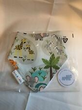 Handmade baby bandana bib girl/boy Safari Animals