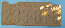 1930 Maryland License Plate man cave art cheap