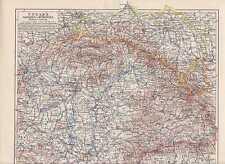 UNGARN Galizien Bukowina Siebenbürgen LANDKARTE von 1906 Karpaten Slavonien