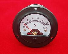 DC 0-10V Round  Analog Voltmeter Voltage panel meter Dia. 66.4mm DH52