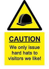 A5 Joke Workplace Hard Hat Sticker - Spillage Hazard Health & Safety Sign