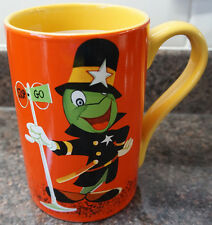 *Disney Store New Jiminy Cricket Traffic Cop Record Cover Artwork Mug, Pinocchio