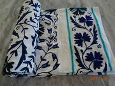 Cotton Bedding Handmade Uzbekistan Bedspread Embroidered Floral suzani bed cover