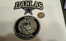 2 -  Dallas Cowboys  NFL vintage CLASSIC embroidered iron on patch lot 3 x 3""