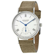 Nomos Ludwig 33 White Dial Velour Leather Ladies Watch 244