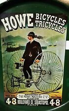 vTg HOWE High Wheeler Bicycle Tricycle Metal Serving Beverage Snack Tray Nevco