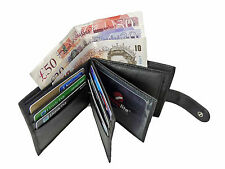 Mens Mans Soft GENUINE REAL Leather Wallet Credit Card Gents Hide Wallets RL46K