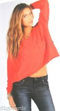 NWT VOLCOM Tipsy Sweater  Womens Size Small  NWT Red New je178