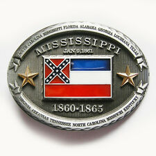 Mississippi Star Oval Flag Belt Buckle Gurtelschnalle Boucle de ceinture