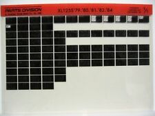 Honda XL125S XL125 1979 1980 1981 1982 1983 1984 Parts Catalog Microfiche a237
