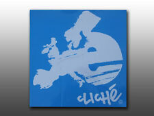 Original mid school large Eastern bike dealer window decal, blue