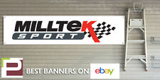 Milltek Sport Exhaust Banner for Workshop, Garage, Office, Pit Lane