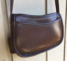 Vintage Coach shoulder bag purse small mini Leather Deep brown Espresso cutie