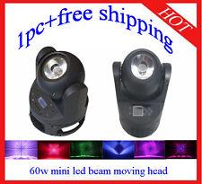 1pc Endless Rotation 60W Led Beam Moving Head Stage Club DJ Light Free Shipping