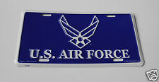 USAF US Air Force Wings Metal License Plate 6x12 inches made in USA