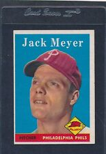 1958 Topps #186 Jack Meyer Phillies EX 58T186-82715-2