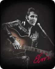 "ELVIS PRESELY ""LEATHER JACKET"" BLANKET 79 x 96"