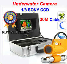 30M Cable CCTV 7'' Color TFT LCD Underwater Camera Fishing Camera 1/3 Sony CCD