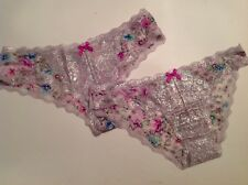 Victorias Secret Dream Angels Panty Lot Lace Floral Cheeky Cheekini Small NWT