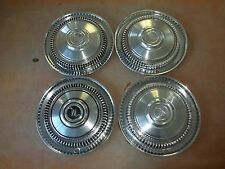 "1965 65 Rambler Marlin Hubcap Rim Wheel Cover Hub Cap 14"" OEM USED Z-21 SET 4"