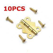 10Pcs Mini Brass Plated Butterfly Hinges Cabinet Drawer Jewelry Box DIY Repair