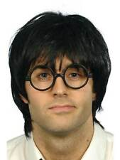MENS SCHOOLBOY SET FANCY DRESS SCHOOL PUPIL NERD GEEK CHIC BOY WIG GLASSES SPECS