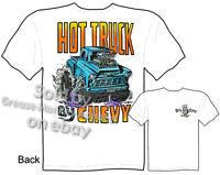Rat Fink T Shirt Hot Truck By Chevy 55 56 Pickup Big Daddy Roth Sz M L XL 2XL 3X