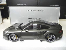 1:18 Minichamps Porsche 911 991 Turbo S achatgraumet. Dealer Edition NEU NEW