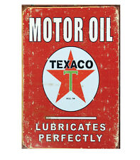 Texaco Motor Oil Lubricates Perfectly Vintage Metal Sign - NEW