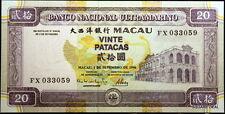 1996 UNC with Vibrant Colors P-66 Macau, Banco Nacional Ultramarino 20 Patacas!!