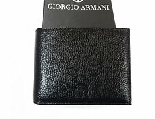 Giorgio Armani pebble Leather Wallet in Black