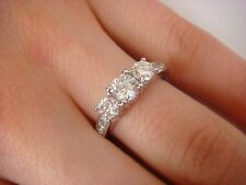 """1  CARAT T.W. """"PAST PRESENT FUTURE"""" ENGAGEMENT- ANNIVERSARY  RING 14K WHITE GOLD"""