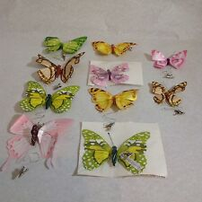 10pcs  Artificial Butterfly Wedding Birthday Party crafting paper with wire clip