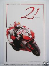 SUPER RACING BIKE MOTOGP JUST FOR YOU 21 TODAY 21ST BIRTHDAY GREETING CARD