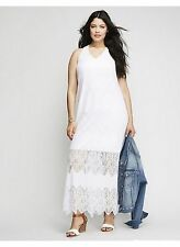 LANE BRYANT PLUS SIZE WHITE LACE MAXI DRESS 22/24