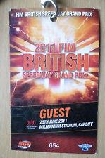 Speedway Guest Pass-2011 FIM BRITISH SPEEDWAY GRAND PRIX, 25th June @ Millennium