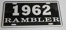 METAL LICENSE PLATE 1962 62 RAMBLER NASH AMC AMERICAN MOTORS 660 440