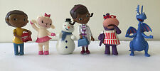 6 pcs set of Doc McStuffins figures cake toppers stuffy Lambie hallie chilly