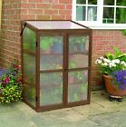 Timber Grow house Wooden Cold Frame Mini Greenhouse Winter plant protection seed
