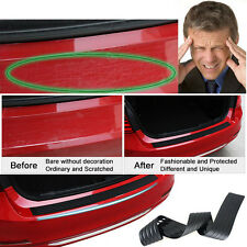 Car SUV Rear Trunk Sill Plate Bumper Guard Protector Rubber Pad Cover Black 35""