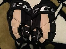 "Pittsburgh Penguins CCM Tacks HGTK  Pro Stock 15"" Black Gold NEW hockey Gloves"