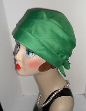 Vtg Green TURBAN CLOCHE Dress HAT with Bow 1950s 60s Saks Fifth Avenue GORGEOUS!