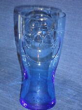 "6.5"" McDONALDS BLUE drinking SODA GLASS 1961"