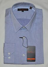 NWT Ben Sherman Slim Fit Blue Long Sleeve Dress Shirt Size L Large 16 34-35 New
