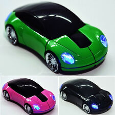 Wireless Mouse Fashion Car Shaped Game 2.4Ghz USB Optical Mice for PC Computer